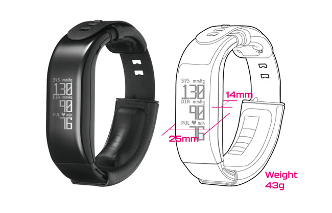 H2-BP (Wristband type blood pressure monitor)