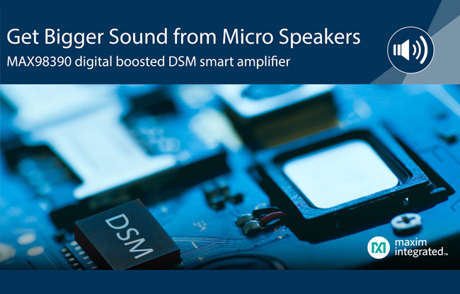 MAX98390 Smart Amplifier with Integrated Dynamic Speaker Management
